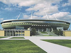"""Начальный проект стадиона для """"Зенита"""" изменили по ходу строительства."""
